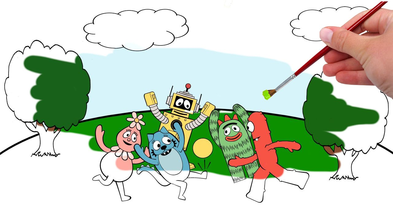 Yo Gabba Gabba Coloring Pages | Free download best Yo Gabba Gabba ...