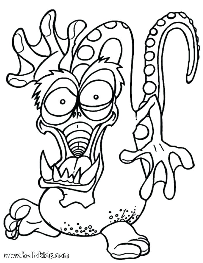 695x900 Scary Coloring Pictures Funny And Scary Monsters Coloring Page