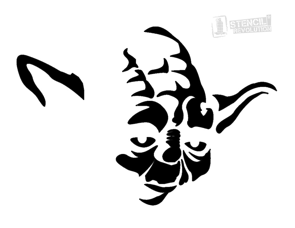 photograph regarding Star Wars Pumpkin Stencils Printable known as Assortment of Stencils clipart Cost-free down load simplest Stencils
