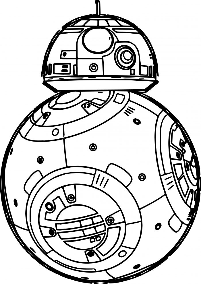 700x989 Coloring Pages Star Wars The Force Awakens Robot Page Marvelous