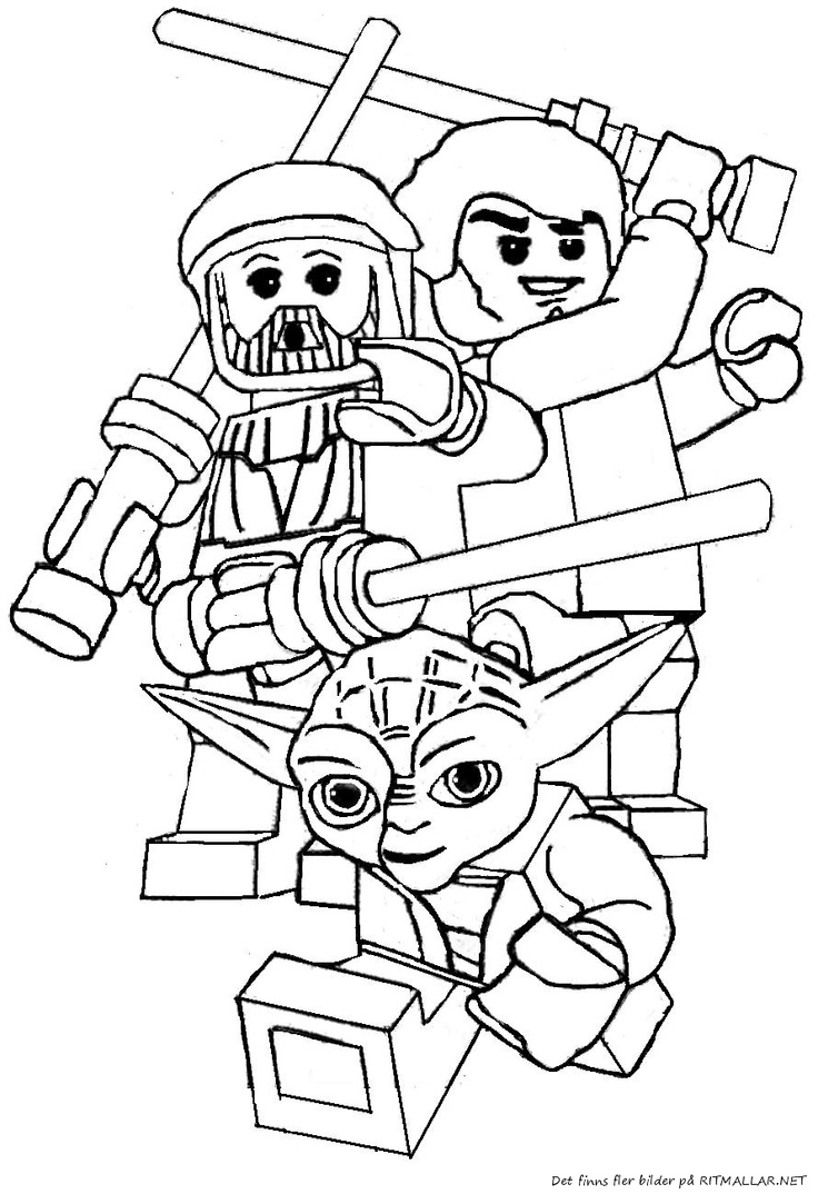 736x1074 Lego Yoda Star Wars Coloring Pages