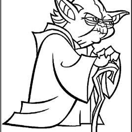 268x268 Star Wars Coloring Pages Master Yoda Coloring Pages Yoda