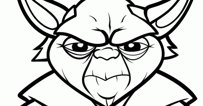 860x450 Yoda Coloring Pages