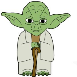 268x268 Yoda Coloring Pages Pics Of Face Page Star Wars