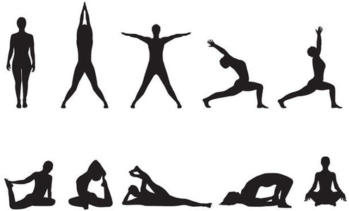 yoga clipart black and white  free download on clipartmag