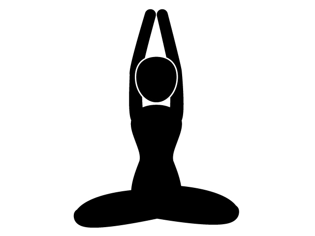 640x480 Yoga Pose Exercise Health Pictogram Free Material