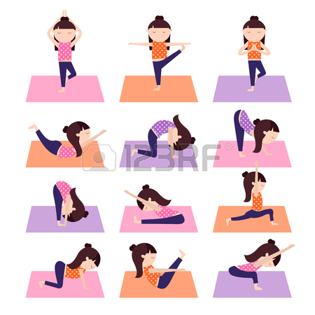 Yoga Girl Clipart