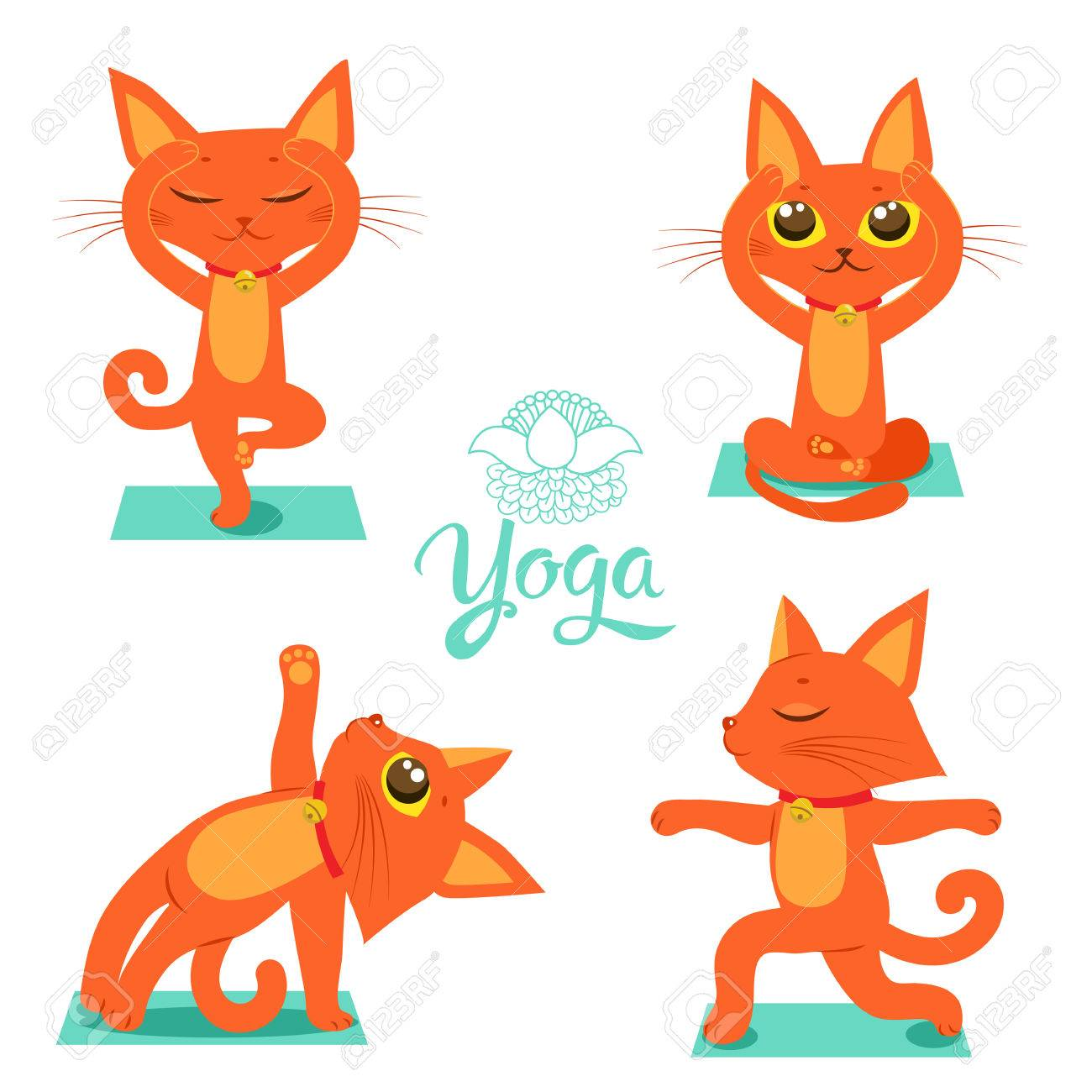 1300x1300 330 Cats Yoga Cliparts, Stock Vector And Royalty Free Cats Yoga