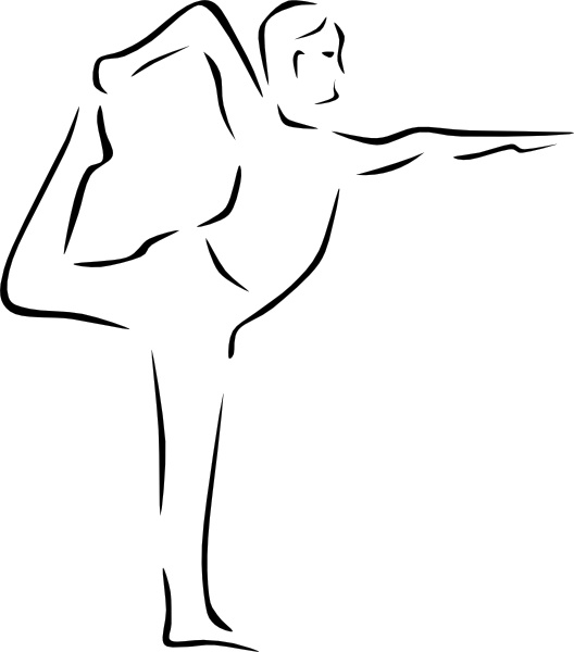 528x600 Yoga Poses Stylized Clip Art Free Vector In Open Office Drawing