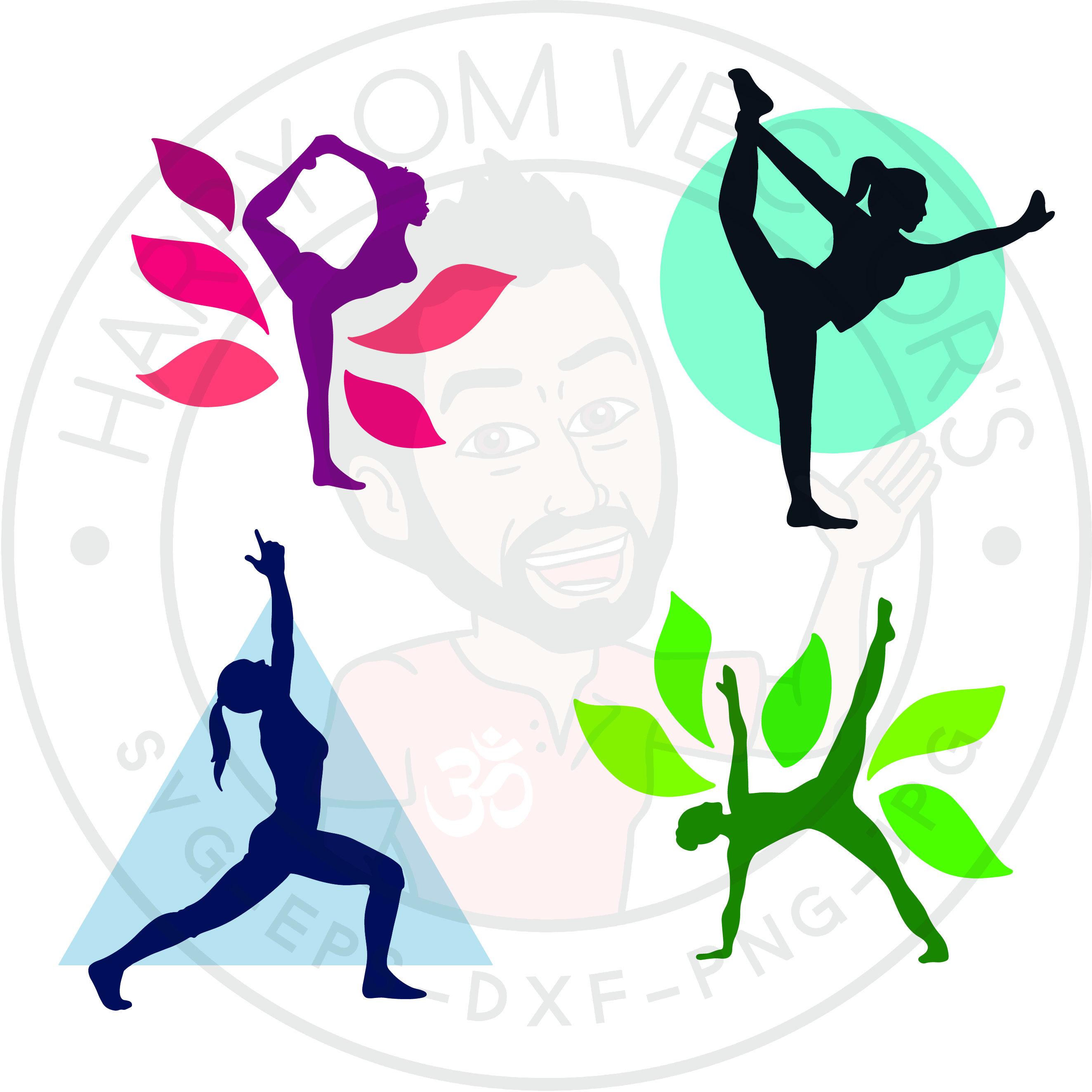 2647x2647 Chakra Vectors, Svg Dxf For Silhouette Cameo Or Cricut, Yoga Pose