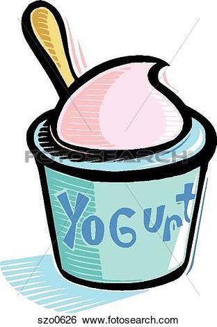 312x470 Drawing Clipart Yogurt