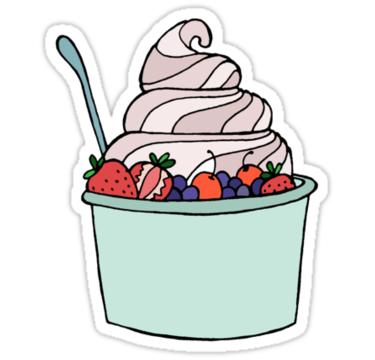 375x360 Photo Collection Frozen Yogurt Clip Art
