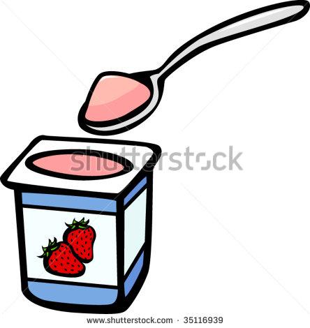 444x470 Yogurt Cup Clipart