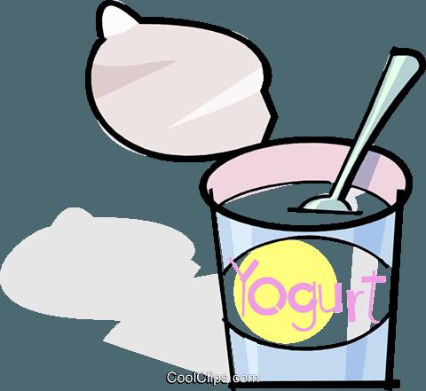 480x441 Yogurt Royalty Free Vector Clip Art Illustration Vc061792