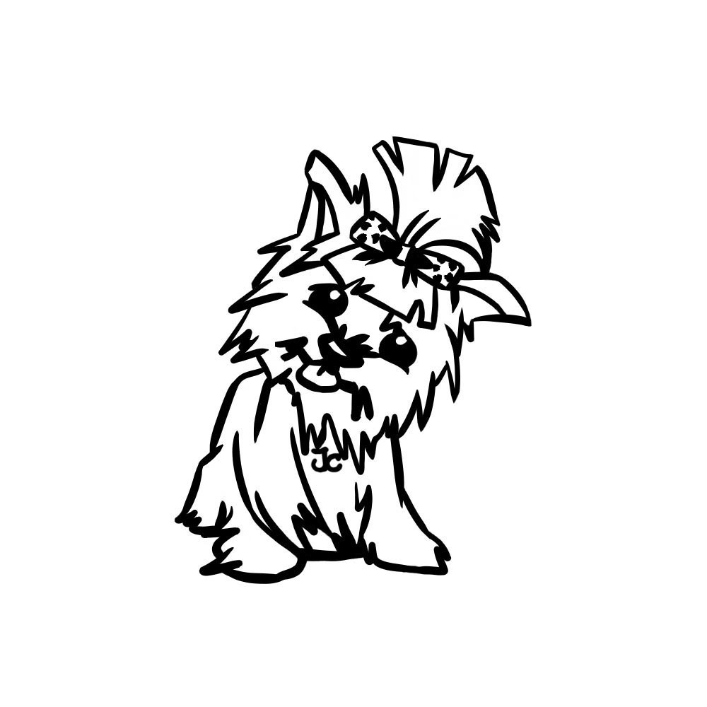 yorkshire coloring pages | Yorkshire Terrier Cliparts | Free download best Yorkshire ...