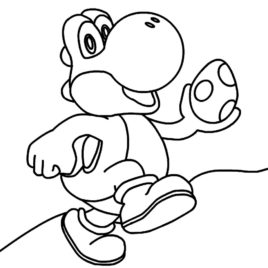 268x268 Printable Yoshi Coloring Pages Me Of