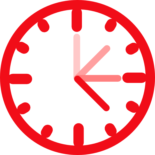 600x600 Awesome Clock Clip Art