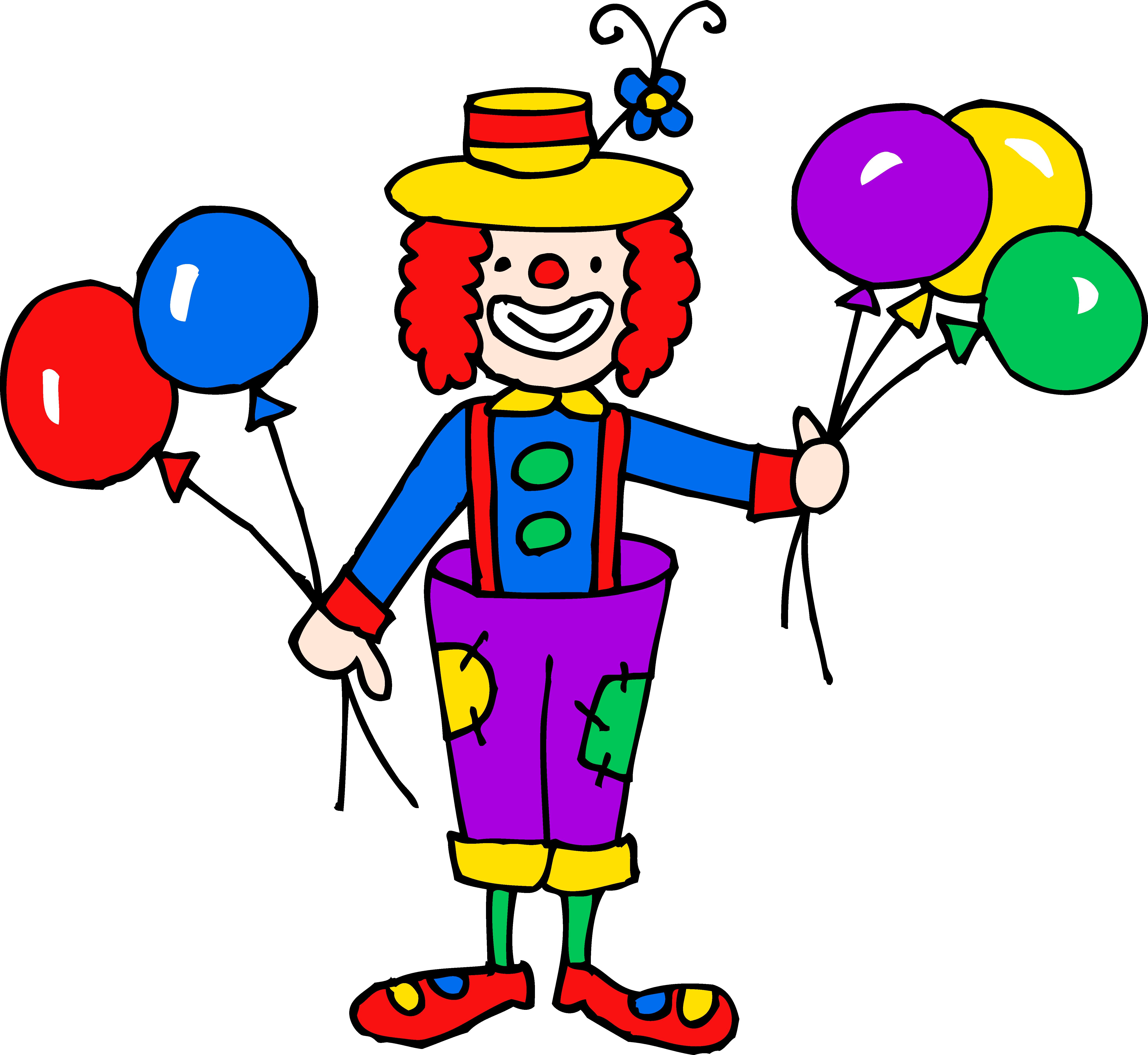 5891x5418 Cute Colorful Clown Clipart