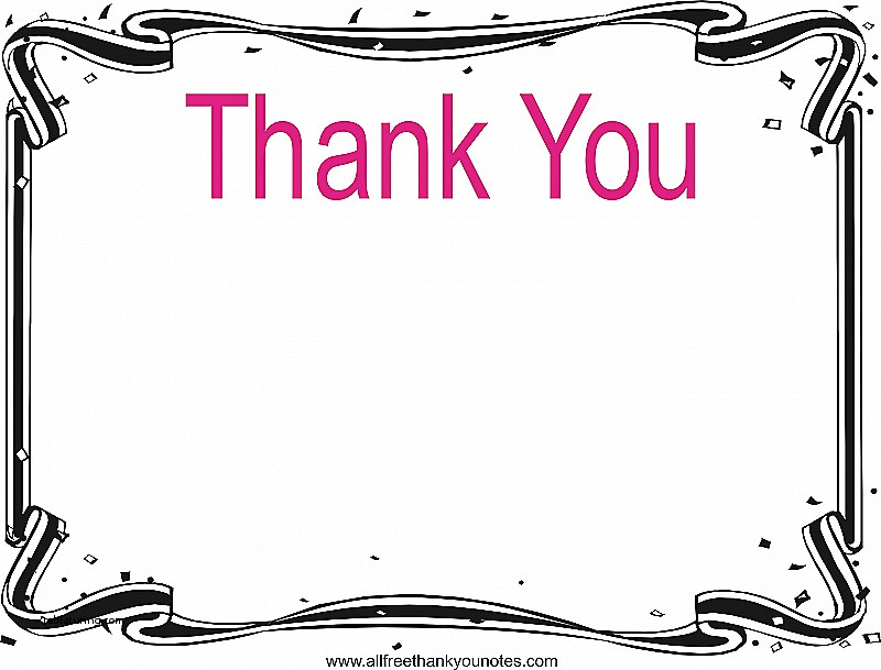 800x609 Thank You Cards Thank You Card Clip Art Luxury Thank You Border