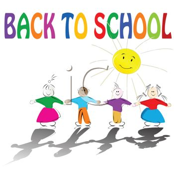 350x341 Kids Holding Hands With Back To School Text