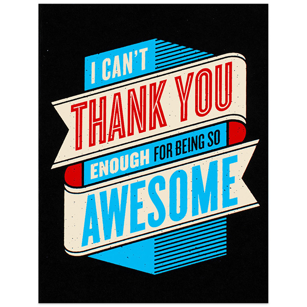 600x600 10 Cool Cards To Help You Say Thanks Design Galleries Paste