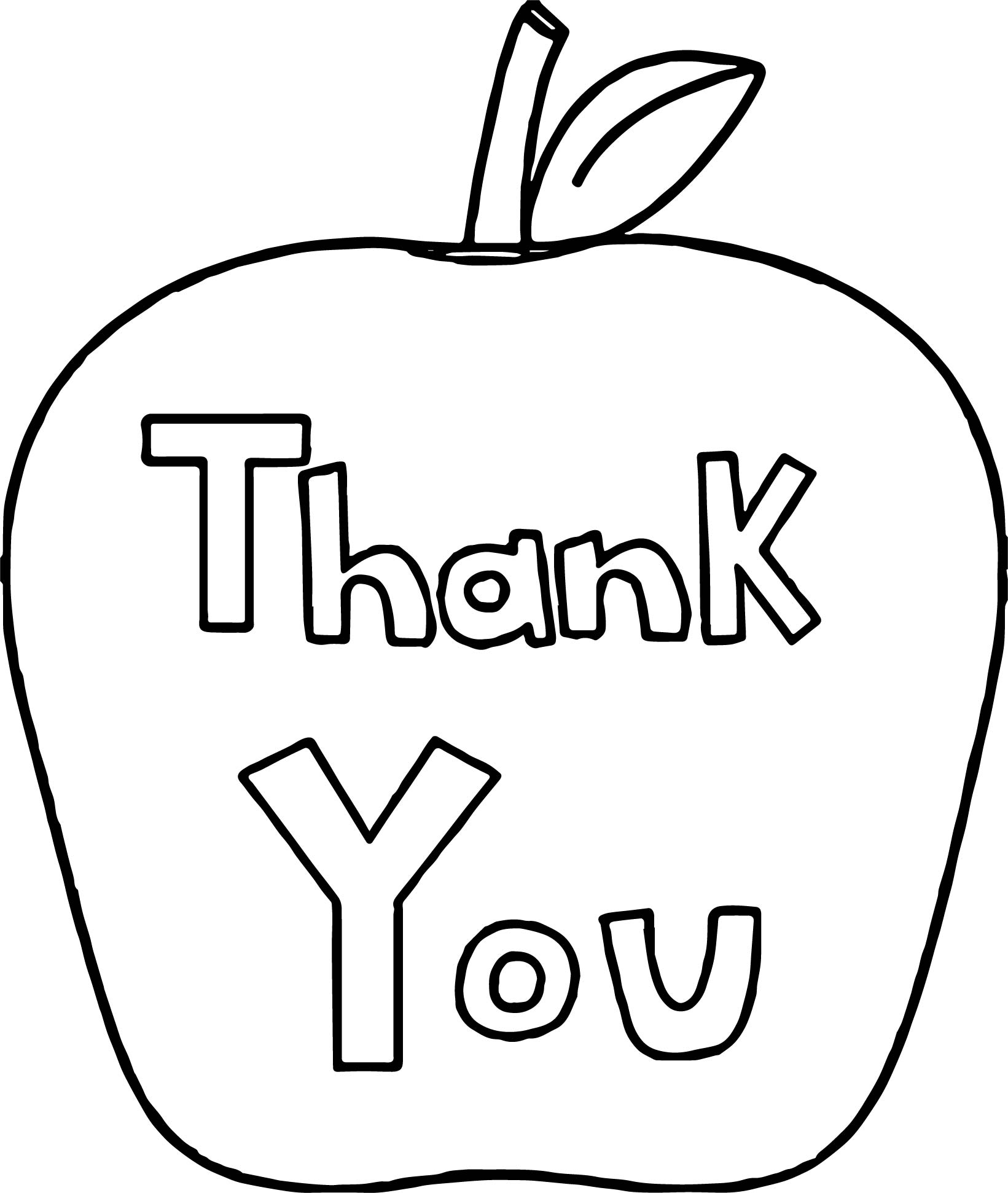 1641x1942 Thank You Awesome Apple Coloring Page Wecoloringpage