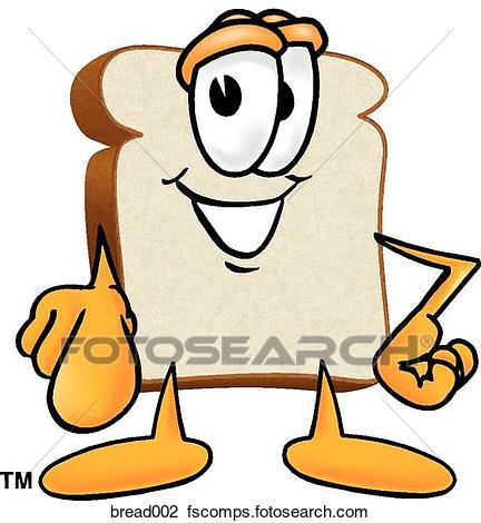432x470 Clip Art Of Bread Pointing At You Bread002