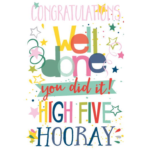 522x522 Congratulations You Did It! Greeting Cards