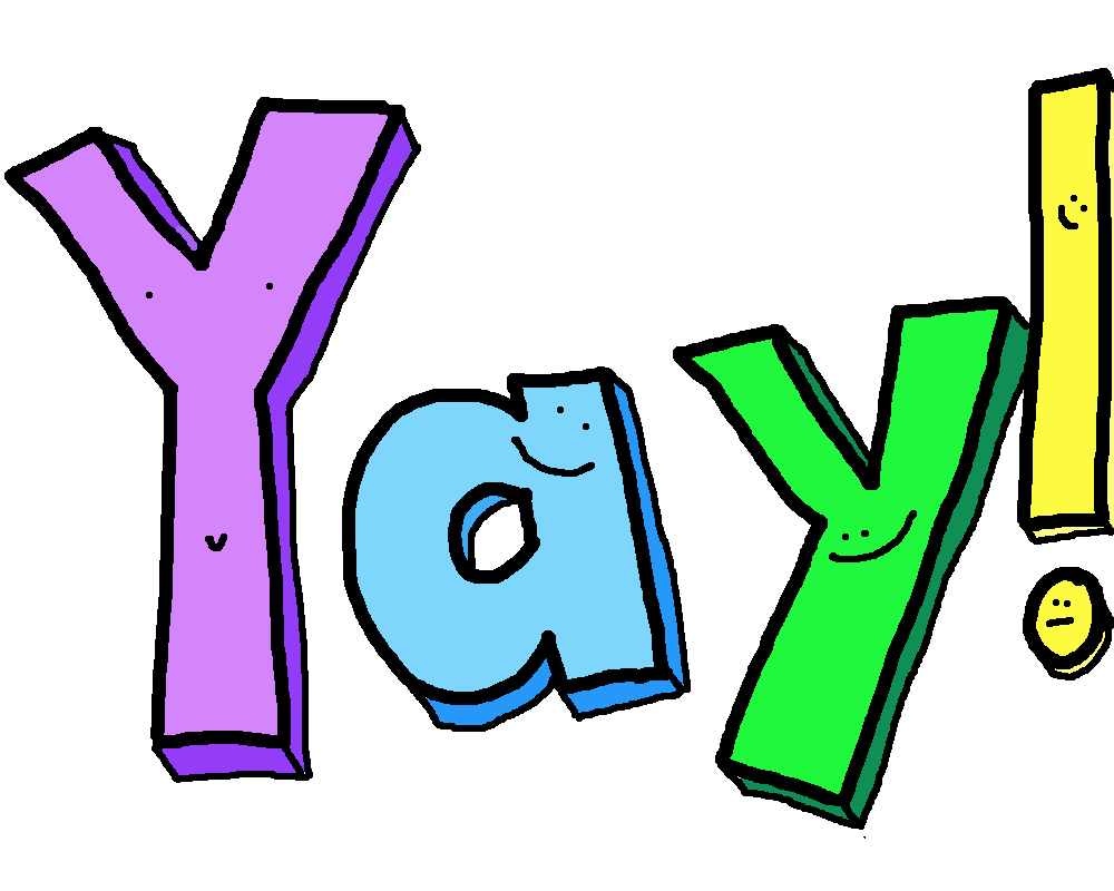 1000x800 Yay You Did It Clipart