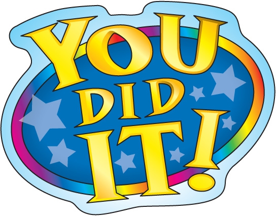 544x425 You Did It Clipart