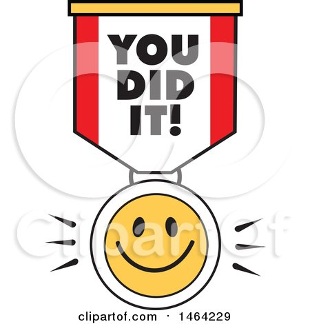450x470 Clipart Of A Smiley Face And You Did It Ribbon