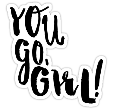 375x360 You Go Girl Clip Art Cliparts