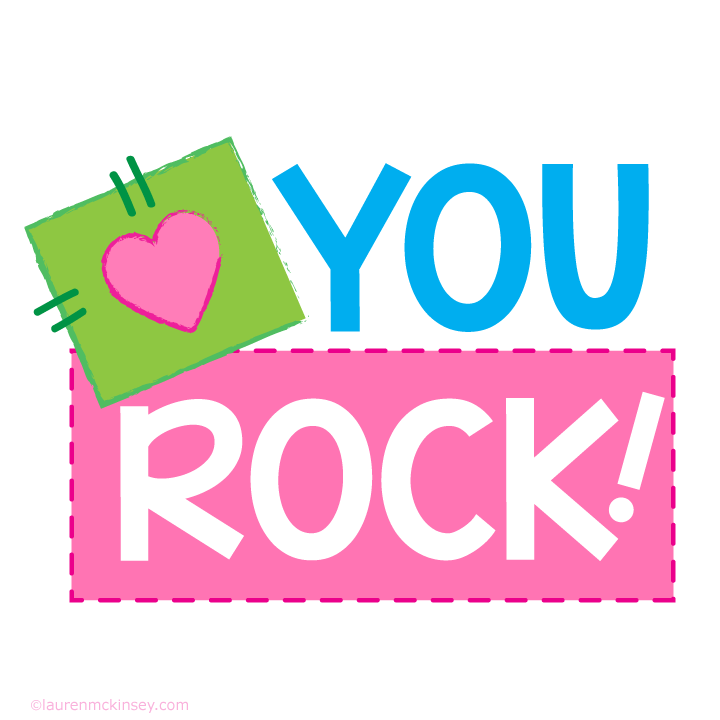 720x720 Complete Collection{You Rock For Girls} Lauren Mckinsey Printables