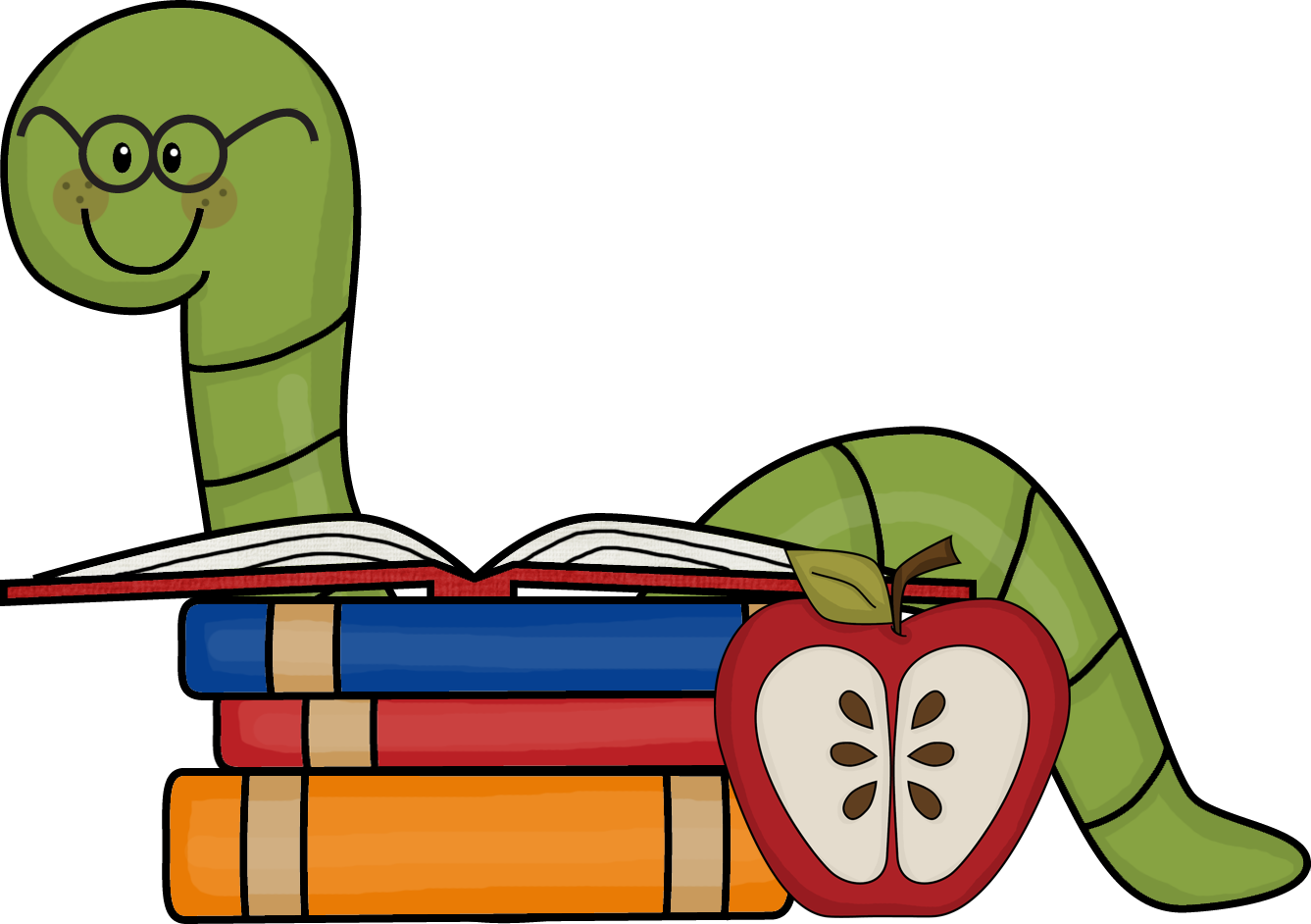 1337x942 Image Of Bookworm Clipart