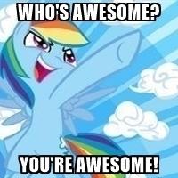 200x200 Rainbow Dash Awesome Meme Generator