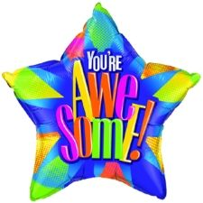 225x225 You'Re Awesome Star Foil Balloons