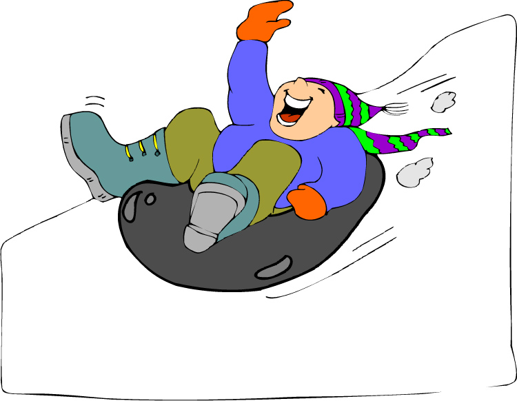 750x582 Snow Tubing Cartoon Clip Art