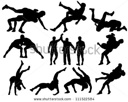 Youth Wrestling Clipart