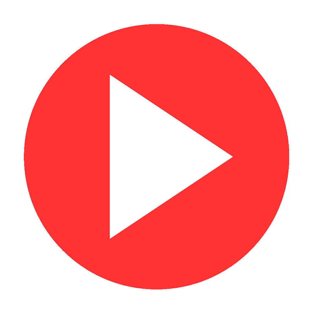 1024x1024 Play Red Button Transparent Png