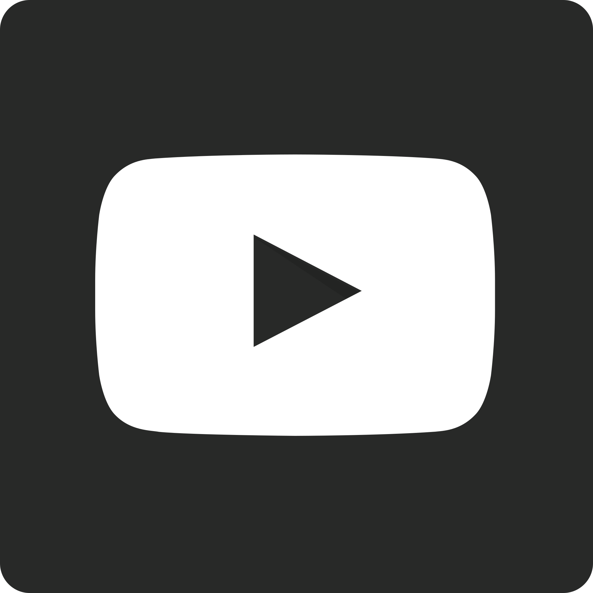 2000x2000 Fileyoutube Play Button Dark Rounded Square (2013 2017).svg