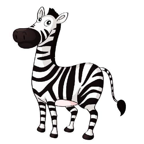 500x500 Cute Baby Zebra Zebra Cartoon Pictures Clip Art