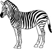 180x170 Free Black and White Animals Outline Clipart