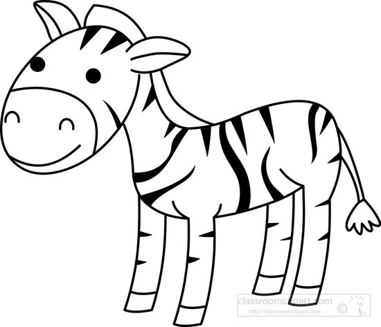 550x472 Zebra Clipart Black And White