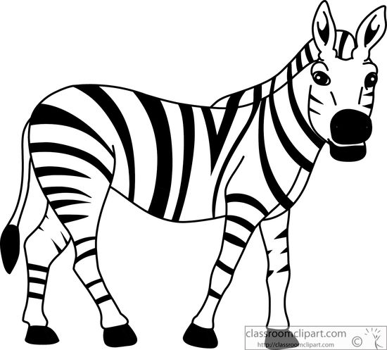 550x497 Black And White Zebra Clipart Clipart Kid