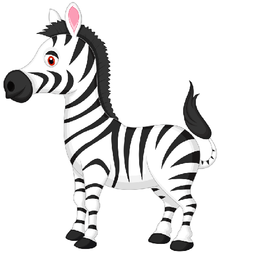 500x500 Cute Baby Zebra Cartoon Pictures Clipart