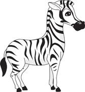 167x180 Free Zebra Clipart