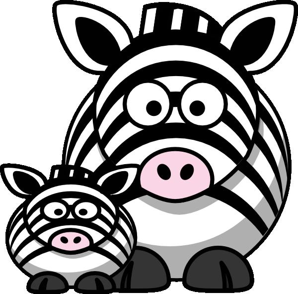 600x591 Zebra Mom Clip Art Clip Art