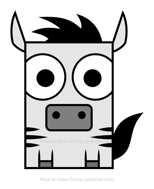 520x636 Zebra Clipart Simple