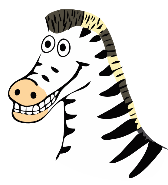 555x612 Clip Art Zebra Farbe Drawn Zebra Super Duper Svg