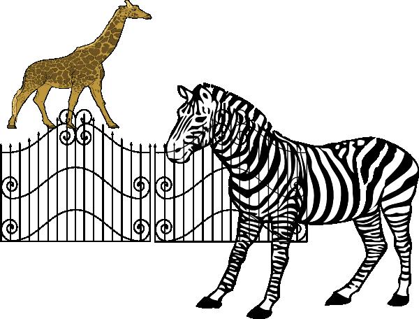 600x456 Cage Clipart Zebra